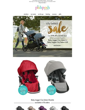 Don't Miss!! Save BIG on a City Select Stroller!