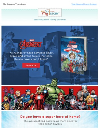 NEW BOOK - Marvel's The Avengers: (Your Child) Saves The Day