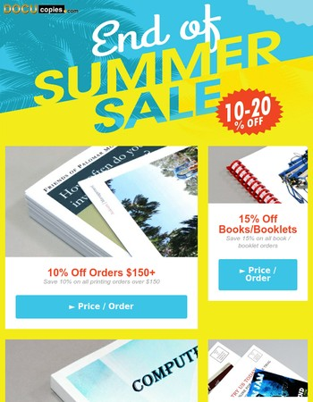 Catch Our End of Summer Sale Before it's too Late!