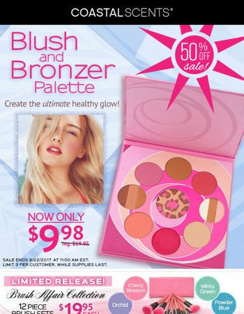 Blush and Bronzer Palette! 50% off Sale!