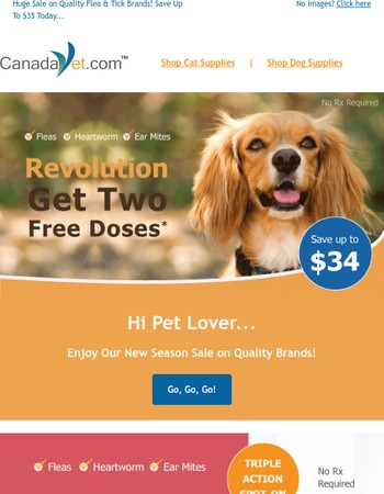 Exclusive Fall Savings on Revolution, Heartgard Plus and More