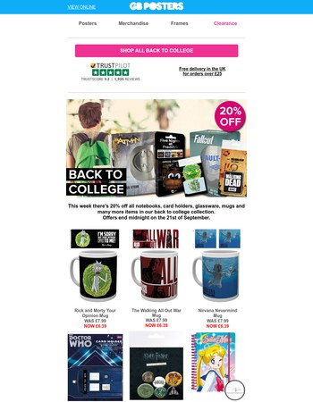 20% off all our back to college accessories!