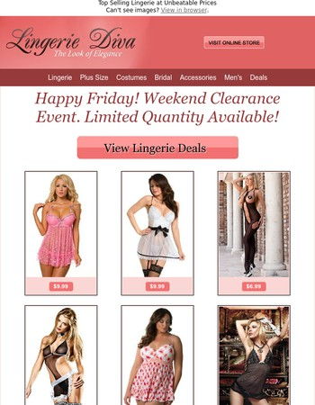 Happy Friday! Weekend Clearance Deals