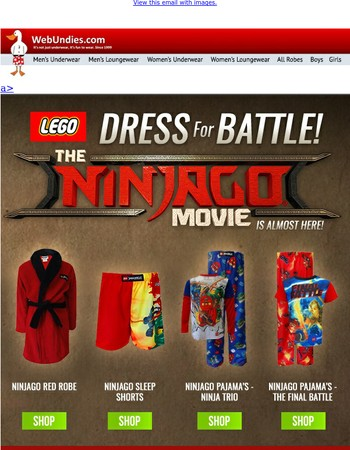 Ninjago Pajama's - Prepare Yourself for The Ninjago Movie!