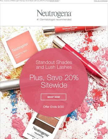Face Fall with Standout Shades & Save 20% Sitewide!