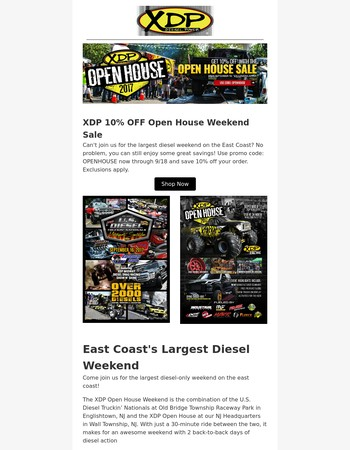 XDP Open House Savings and Event Weekend