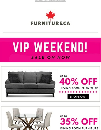 VIP Weekend! Save up to 60% off