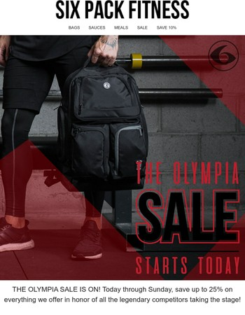THE OLYMPIA SALE STARTS TODAY!
