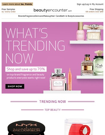 Trend Alert! SAVE on What's Hot in Beauty and Fragrance Right Now