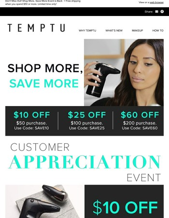 $10 Off $50   $25 Off $100   $60 Off $200
