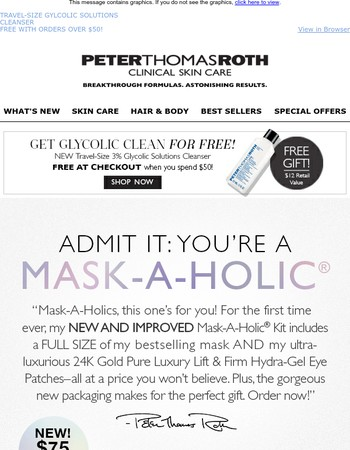 $75 ALL NEW Mask-A-Holic® Kit, $241 value!