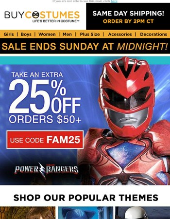 Sale Extended! Friends and Family Sale, take 25% off!