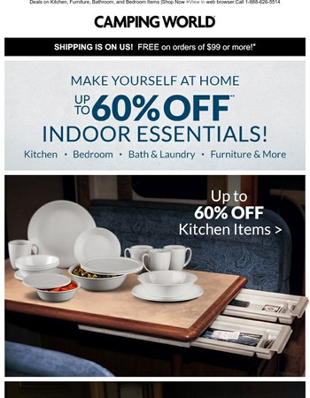 Make Yourself at Home - Up to 60% Off!