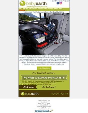 New Britax Car Seat Now Available.