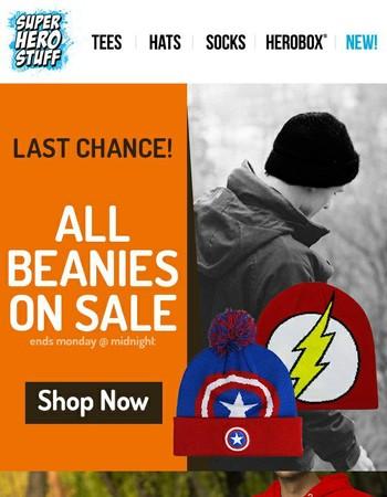 Ending Soon: 20% Off Beanies
