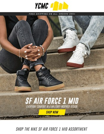 His & Hers Nike SF Air Force 1 Mid's Just Dropped →