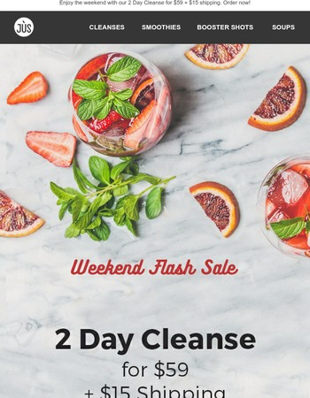 2 Day Cleanse for $59 + FREE shipping