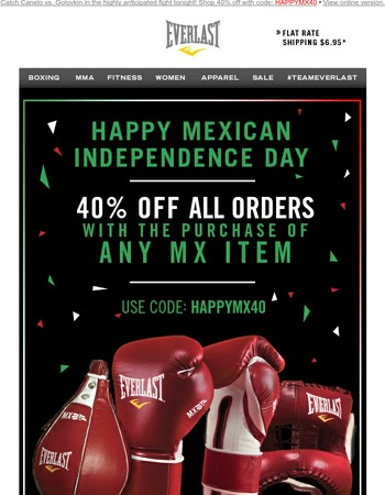 Happy Mexican Independence Day! Take 40% Off
