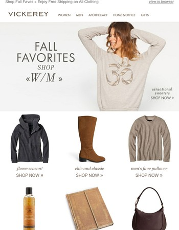 Shop Fall Favorites & Enjoy Free Shipping on Clothing