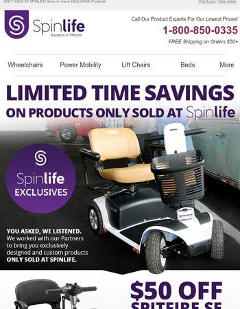 SpinLife Exclusive Savings Today!