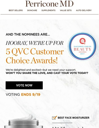 It's an honor to be nominated! But really, let's win this thing!