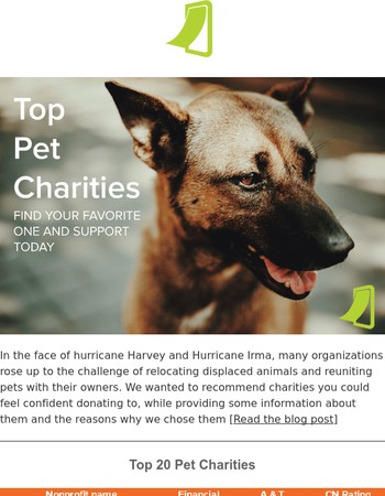 These are the Top Pet Charities in the Country
