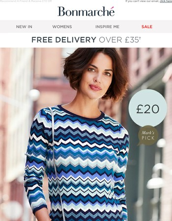 Stylish Knits From £10 + Introduce A Friend For £10 Off