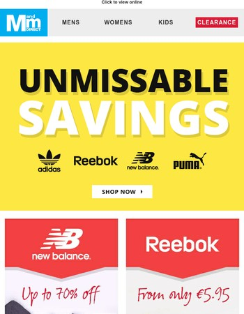 Unmissable savings on our top sellers! New Balance, Converse, Lacoste and more!
