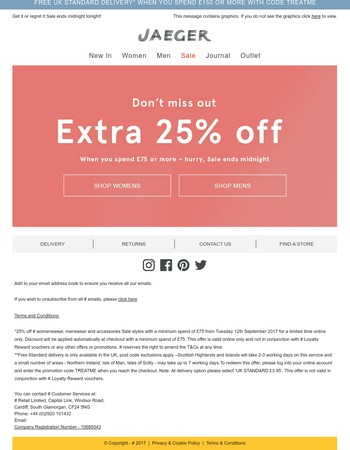 Hurry, SALE ends midnight! PLUS extra 25% OFF...