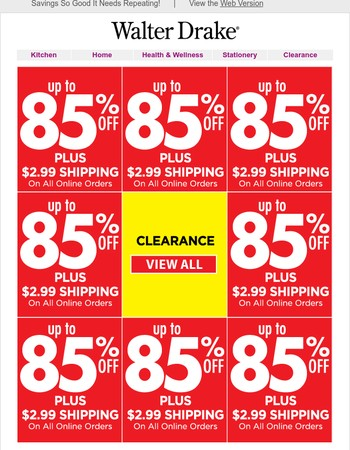 Clearance Deals - Up To 85% Off
