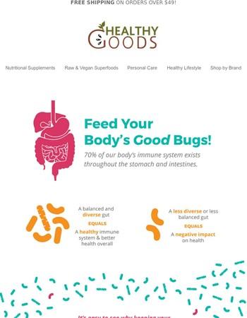 Probiotics vs. Prebiotics + 15% off