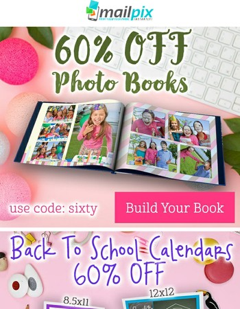 Ends Soon: 60% Off Photo Books and Calendars