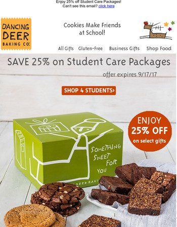 Send your Favorite Student a Care Package and Save!