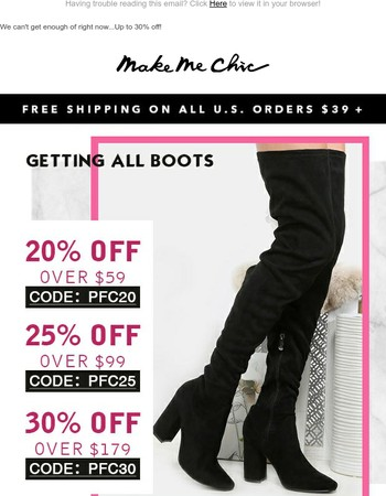 Ready for boots? Here are all new styles...