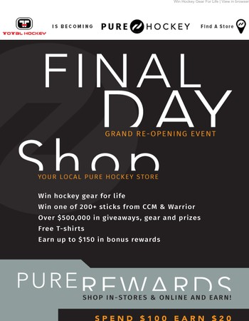 Final Day! Last Chance to earn up to $150 in Rewards!