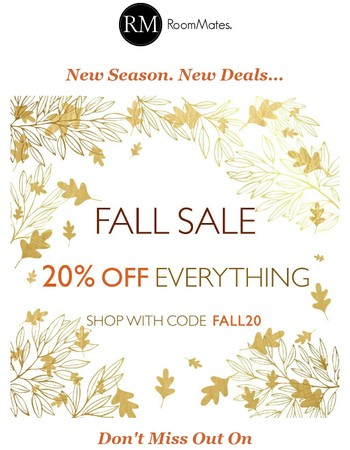 20% OFF FALL SALE