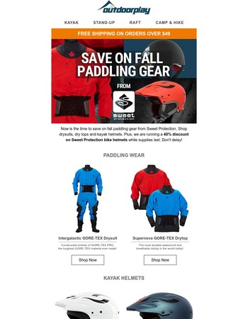 Keep Boating! Sweet Protection Fall Paddling Gear