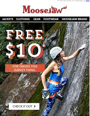 LAST DAY: FREE $10 for taking the easiest survey ever.
