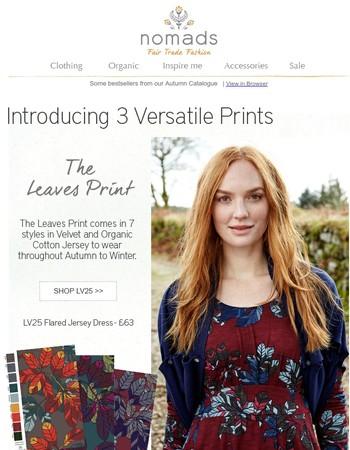New Versatile prints for Autumn