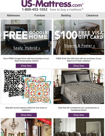 Don't Miss This Sealy Mattress Sale! Get A FREE Google Home With Purchase