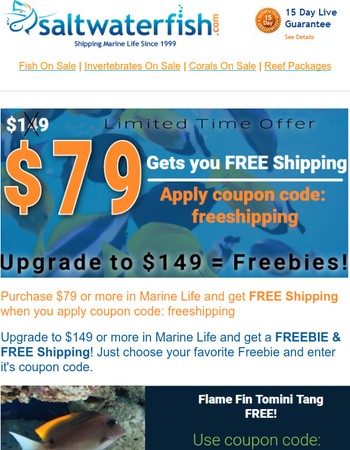 NEW Flame Fin Tang FREE!! $79 Gets You Free Shipping. Upgrade = Freebies!