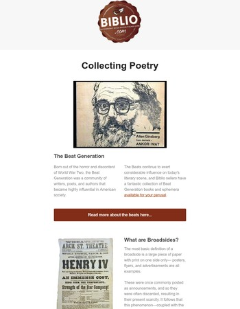 Collecting Poetry: Biblio Book Collecting Guide
