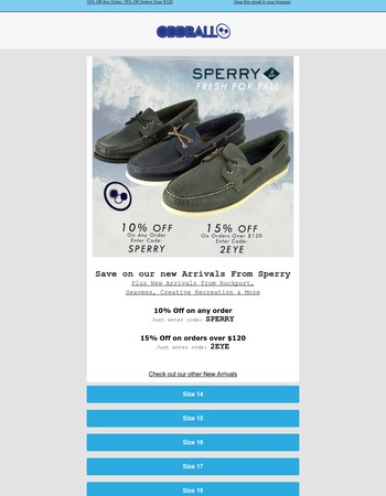 New Arrivals from Sperry