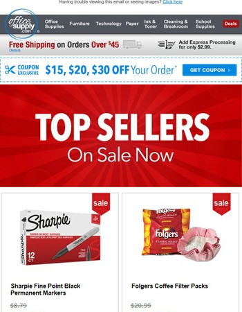 Last Chance: $15, $20 or $30 Off! + Top Seller Deals!