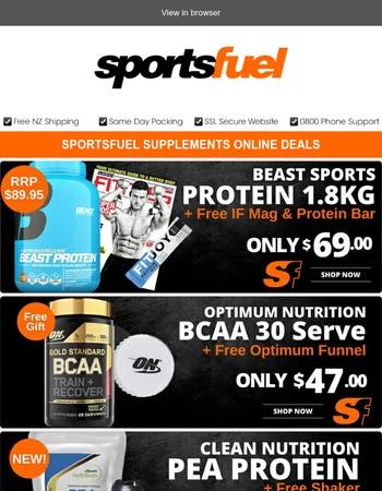 Train like a BEAST with great deals from Sportsfuel