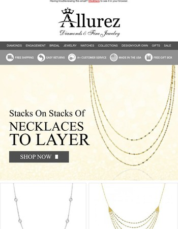 Refresh your look with Allurez necklaces