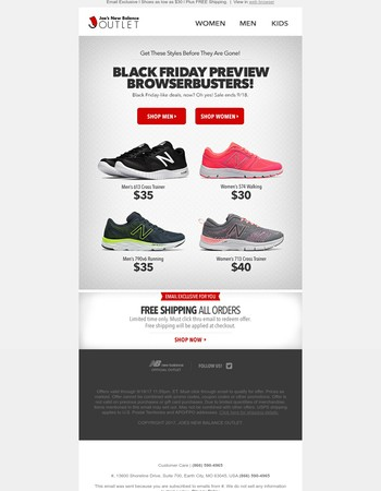 Don't Miss This Exclusive l Black Friday Preview  (shoes as low as $30)
