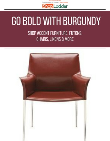Shop furniture and accents in rich burgundy