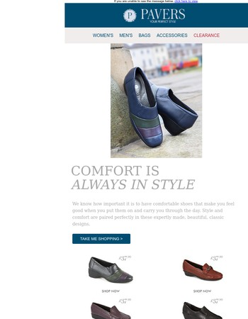 Comfort and style from £34.99