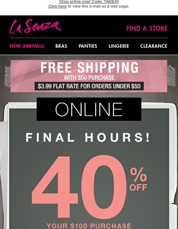 FINAL HOURS! Get up to 40% OFF